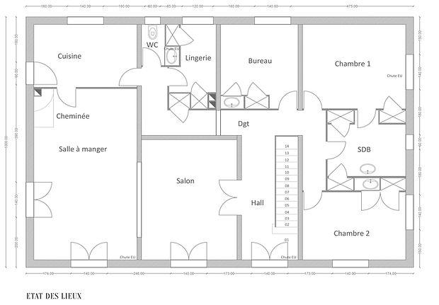 Aude Besson - Architecte d'intérieur- 49 - plan état des lieux