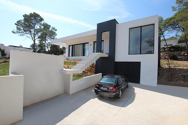 Aude Besson - Architecte d'intérieur- 49 - Façade de la villa réalisé
