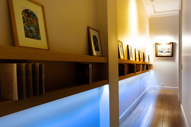 Aude Besson - Architecte d'intérieur- 49 - Couloir exploité en bibliothèque