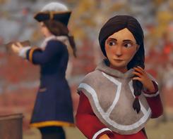 Skábma - Snowfall. Skabma. Suonjar, Áilu's cousin. An adventure game inspired by indigneous Sámi.
