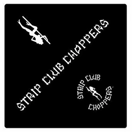 Black Strip Club Choppers Bandana