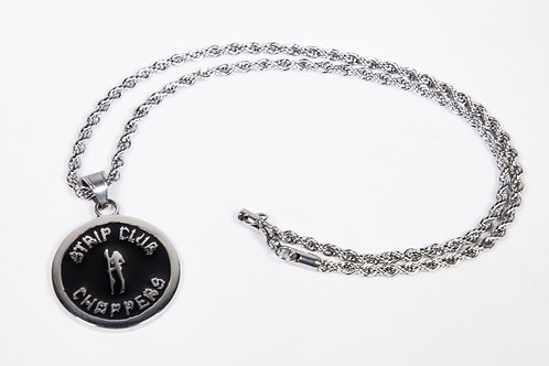 SCC Stainless Steel Necklace w/Logo Pendant