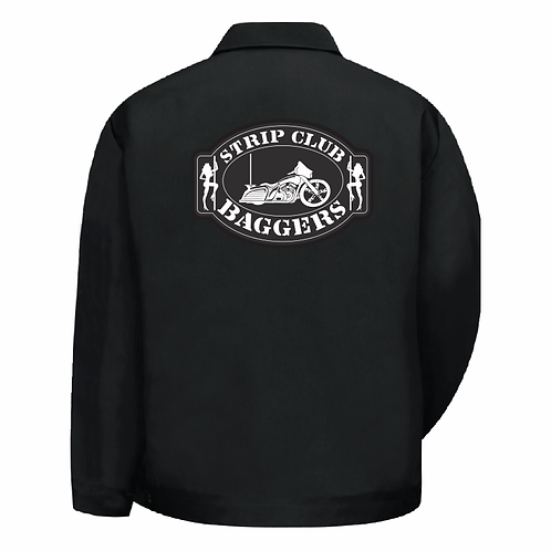 Men's SCC Classic Logo Hip-Length Black Shop Jacket