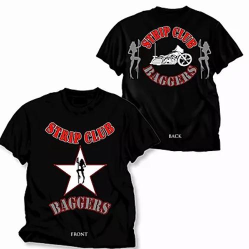 Men's SCC Black Short Sleeve T-Shirt Star Baggers Theme