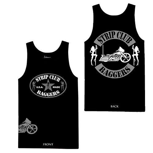 Men's SCC Sleeveless Side-Printed Tank in Black Bagger Theme