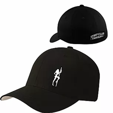 SCC Pole Girl Themed Curved Bill Fitted Hat Ball Cap