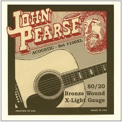 JOHN PEARSE ACOUSTIC SET 100XL Extra Light 10-47