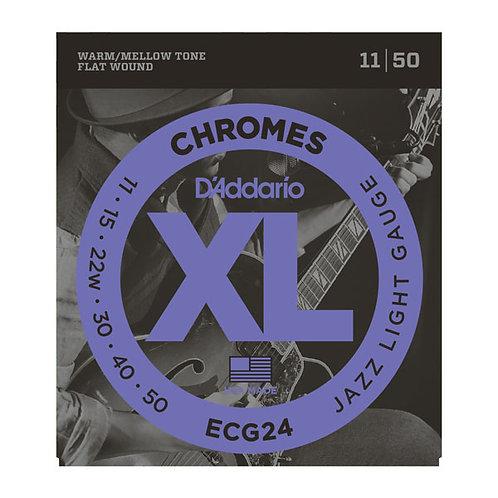D'ADDARIO Chromes ECG24 11/50 Flat wound