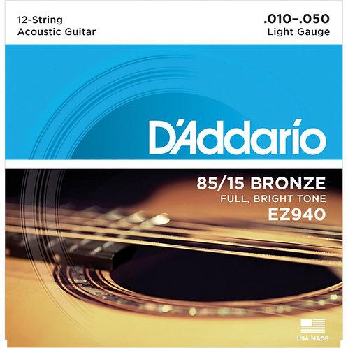 D'ADDARIO EZ940 chitarra acustica 12 corde