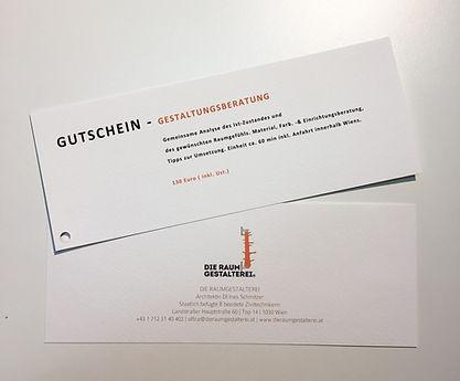 Gutschein Innenarchitekt Raumgestaltung
