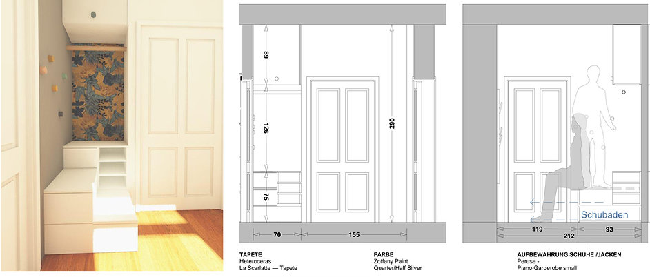 Innenraumgestaltung Vorzimmer