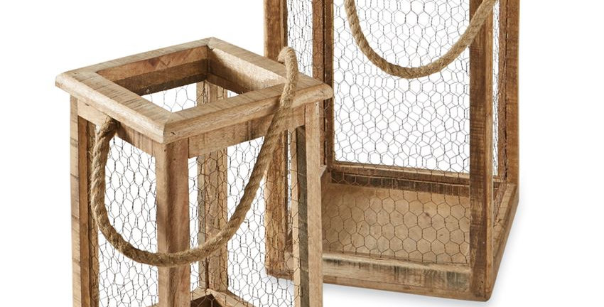Chicken Wire Lantern Set