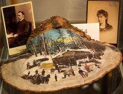 Winter Logging Scene by Minnie Fyles