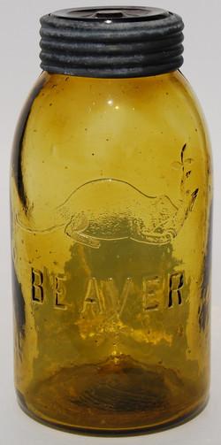 AMBER BEAVER MASON JAR