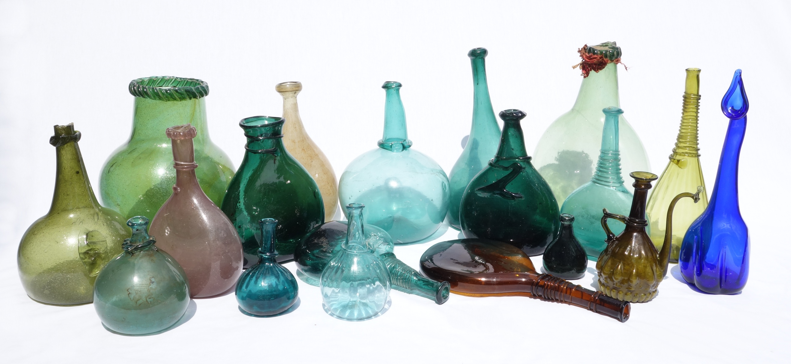 PERSIAN GLASS & SADDLEFLASKS