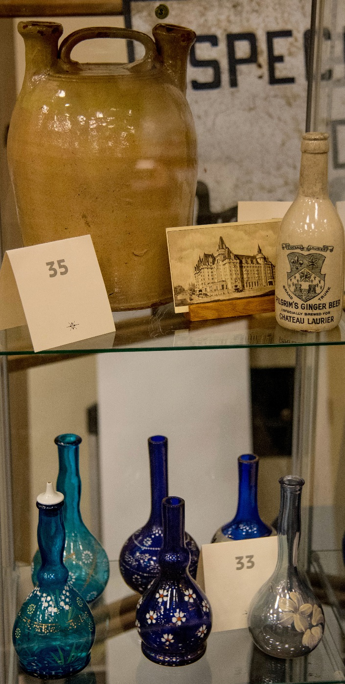 Rare Items in Display Case