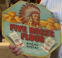 RARE FIVE ROSES FLOUR TIN