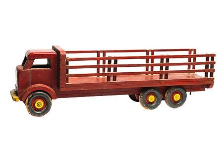 Red Farm Truck, unknown maker, pine,Renfrew, ON, circa 1965