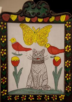 Cat Painting by Joe Sleep
