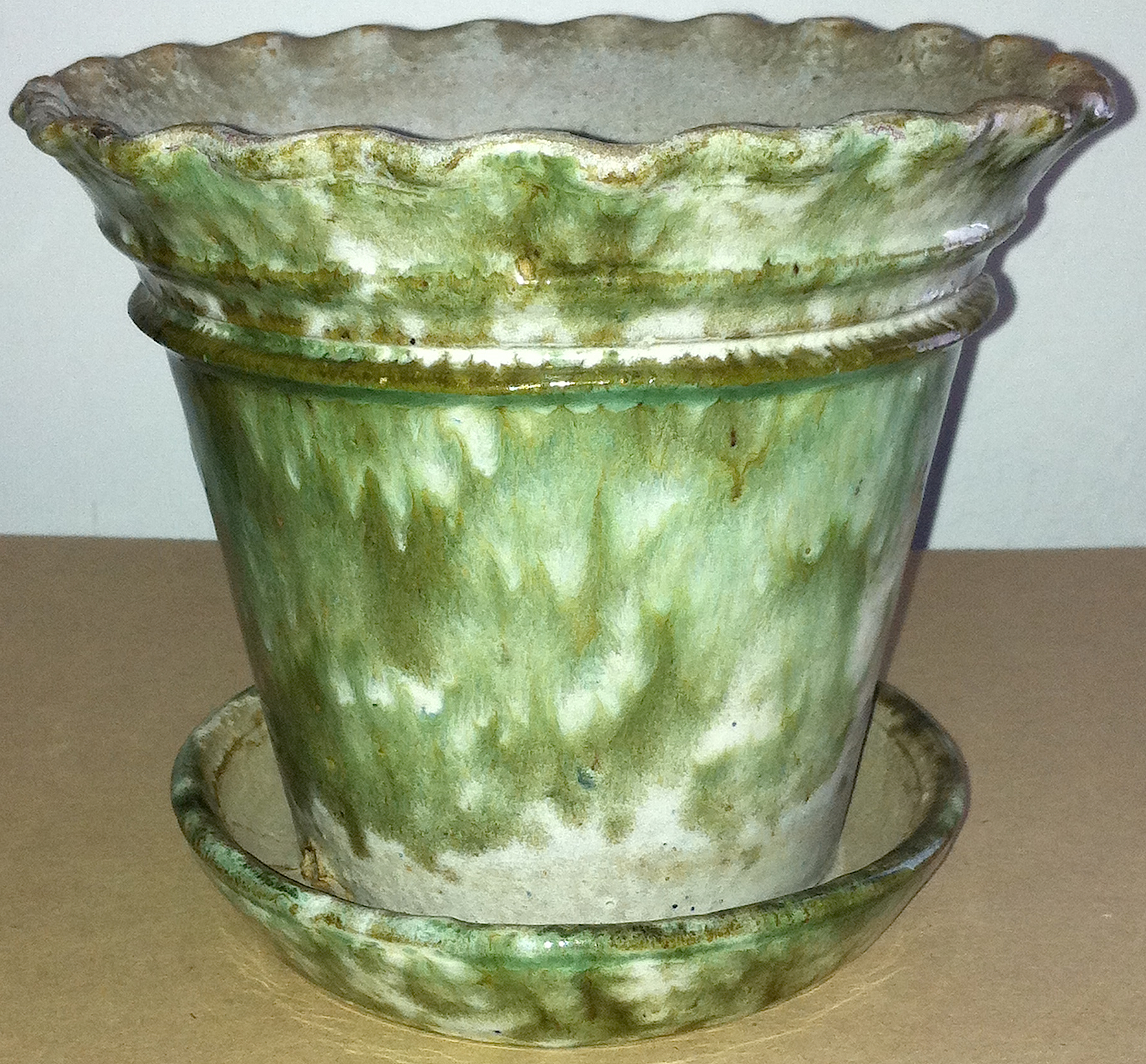 REDWARE FLOWER POT