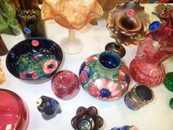 Antique Moorcroft and Glass Dishes
