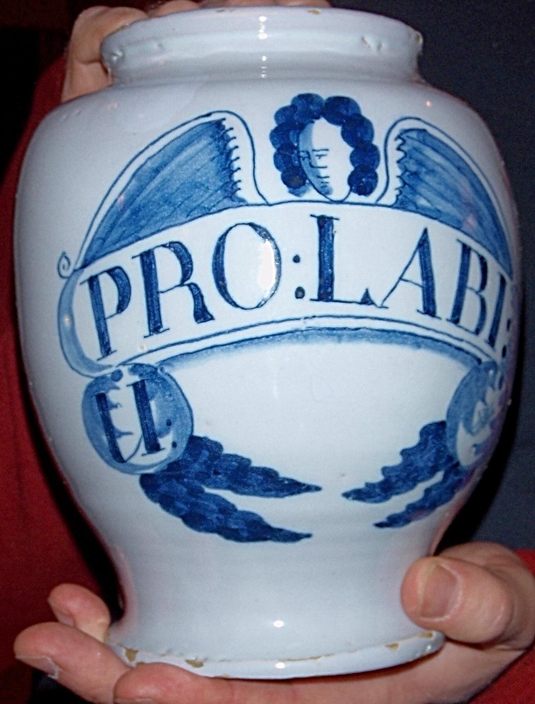 APOTHECARY DELFTWARE JAR