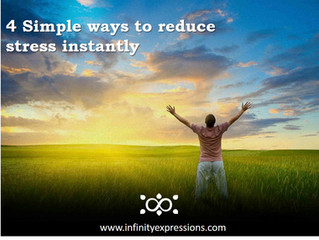 4 Simple ways to reduce stress instantly