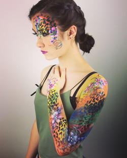 Airbrush body art