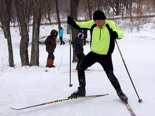 Лыжи с детским домом №33