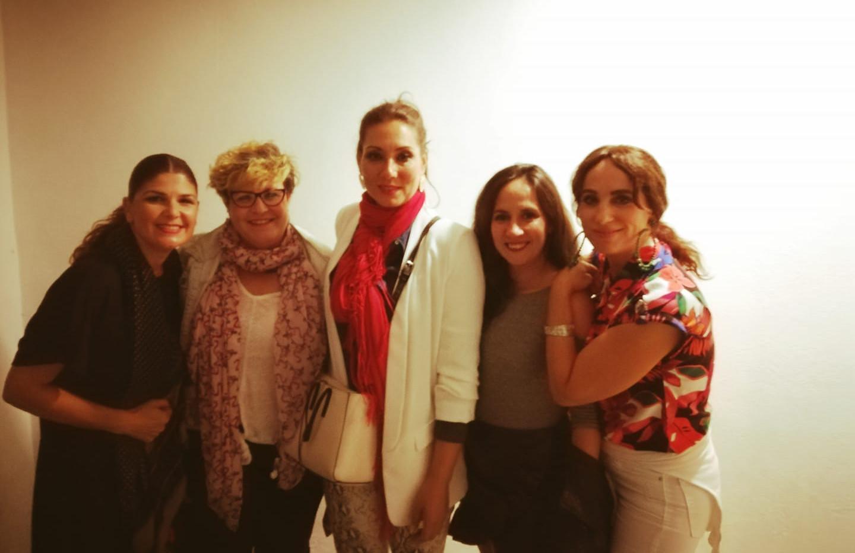 Con Marina Heredia y Anabel Rivera