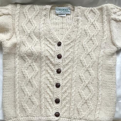 Crana Handknit Children's Sweater - Cardigan