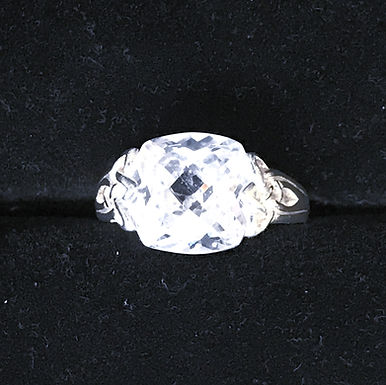 Sterling Silver and Cubic Zirconia Triple Knot Ring