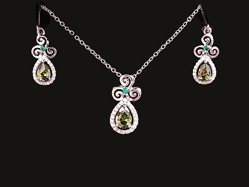 Celtic Pendant and Earrings