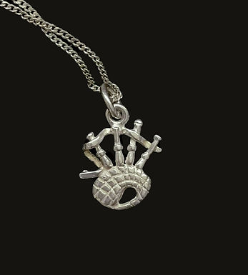 Sterling Silver Bagpipe Pendant