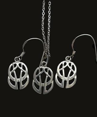 Celtic Knot Earrings and Pendant Set