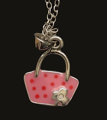 Little Miss Handbag Pendant with a Diamond Sterling Silver