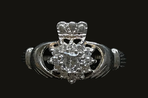 Claddagh with Clear Cubic Zirconia
