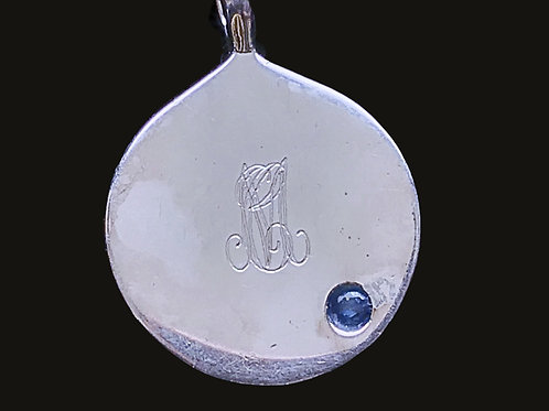 Sterling Silver Engraved Initial Pendant sterling chain