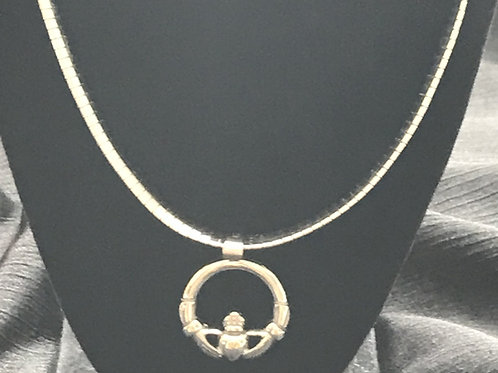 Claddagh Pendant with Snake Necklace