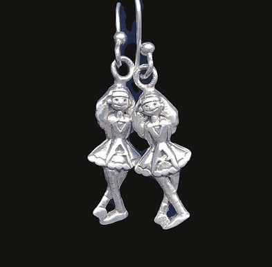 Irish Step Dancers Dangle Earrings
