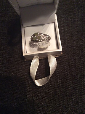 Connemara Shamrock Filagree Sterling Silver ring