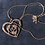 Thumbnail: Newbridge Heart and Rose Clear Stone Pendant