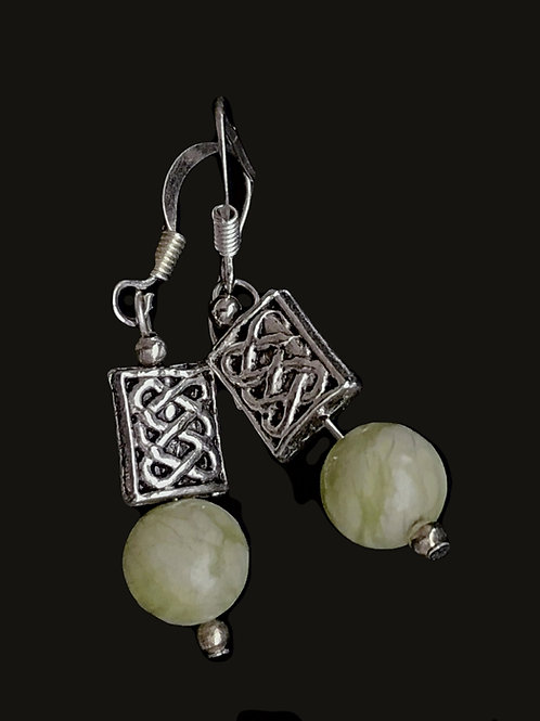 Connemara Marble Celtic Earrings