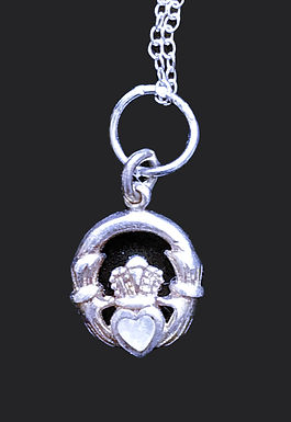 Claddagh Pendant with a Swarovski Crystal Heart