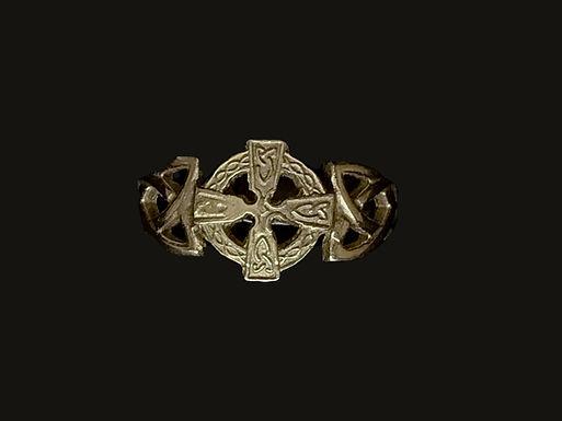 10K Gold Celtic Cross Ring