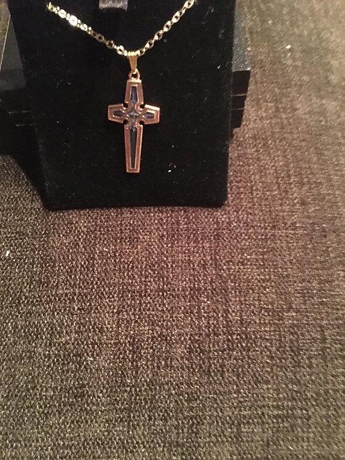 Gold Enamel Celtic Cross from UK