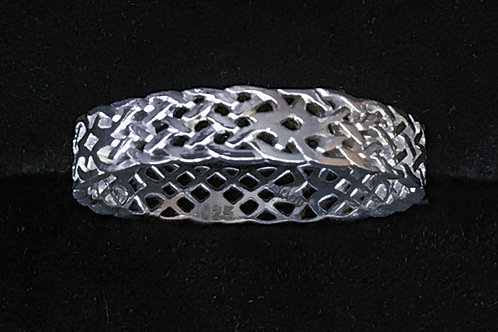 Sterling Silver Braided Open Ring