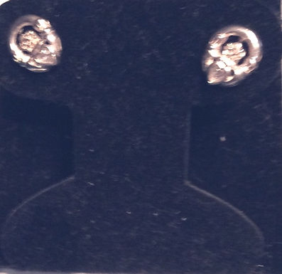 Claddagh post Earrings with White Stones