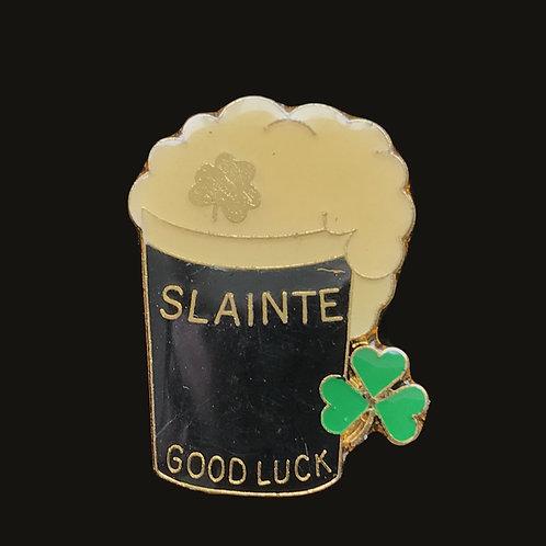 Irish Slainte (Good Luck) Irish Souvenir Pin