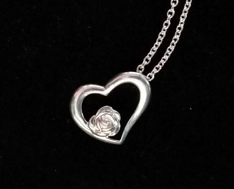 Irish Rose and Heart Pendant